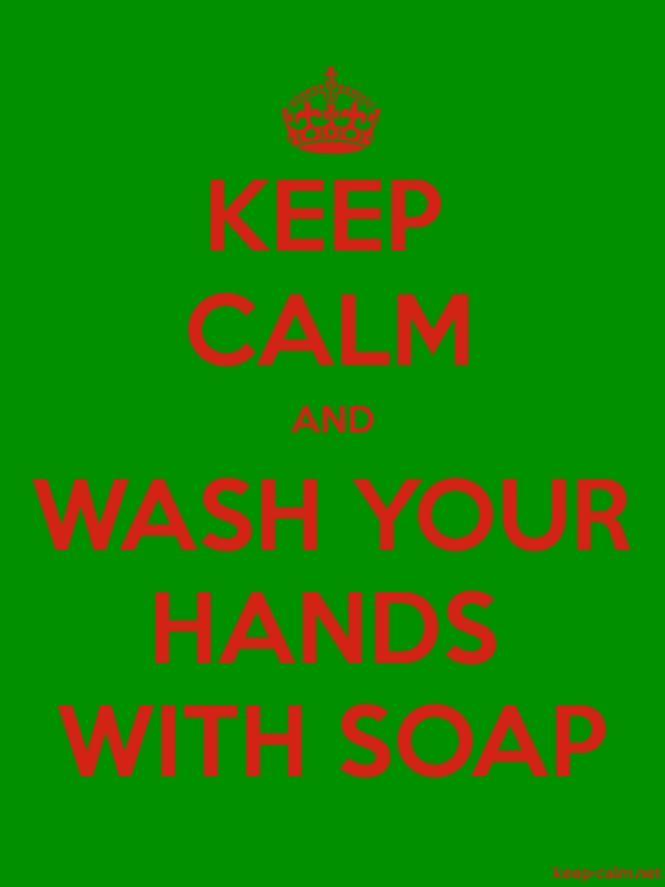 KEEP CALM AND WASH YOUR HANDS WITH SOAP - red/green - Default (600x800)