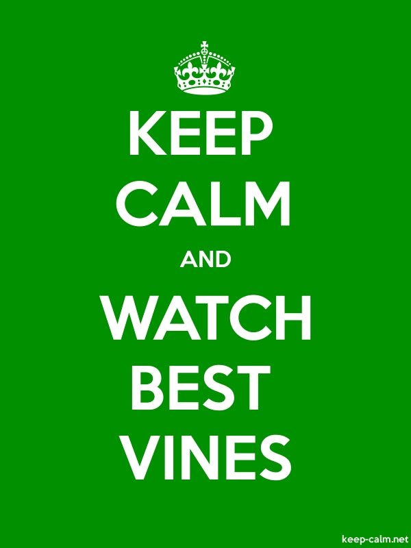KEEP CALM AND WATCH BEST VINES - white/green - Default (600x800)