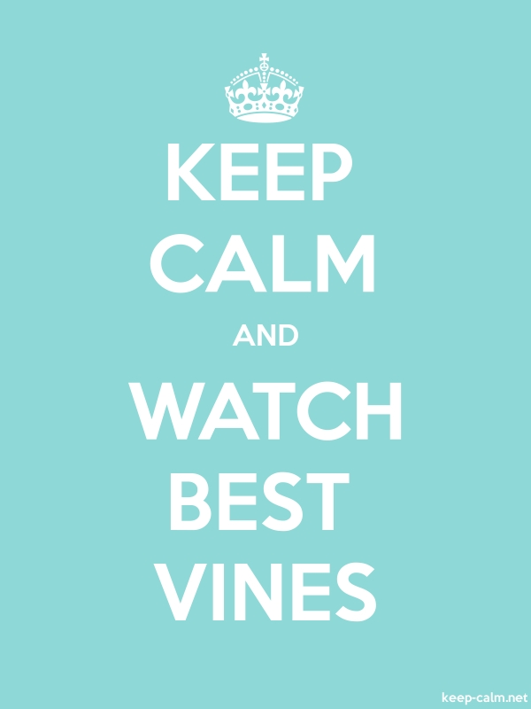 KEEP CALM AND WATCH BEST VINES - white/lightblue - Default (600x800)
