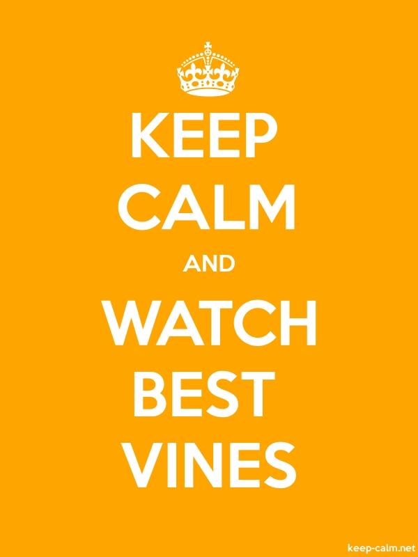 KEEP CALM AND WATCH BEST VINES - white/orange - Default (600x800)