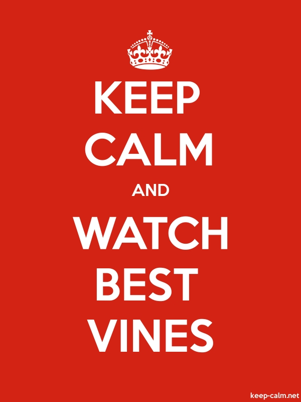 KEEP CALM AND WATCH BEST VINES - white/red - Default (600x800)