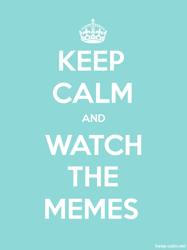 KEEP CALM AND WATCH THE MEMES - white/lightblue - Default (600x800)