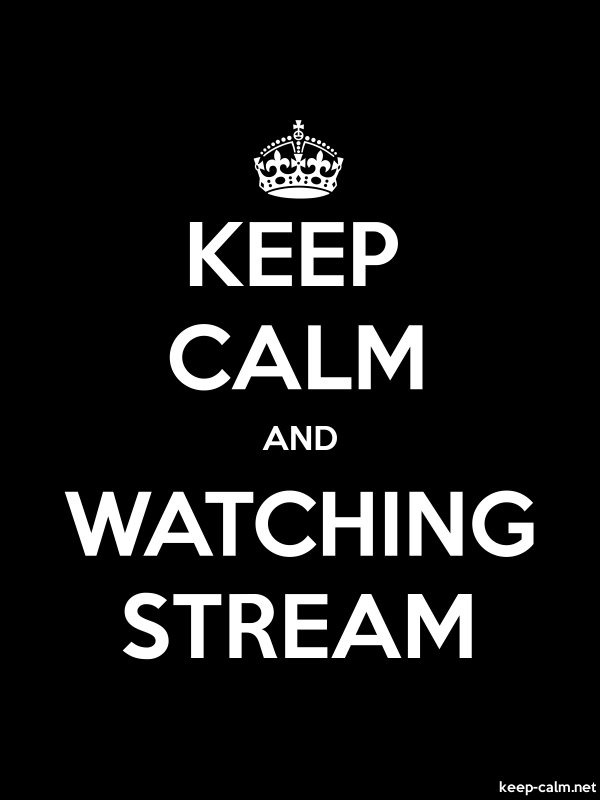 KEEP CALM AND WATCHING STREAM - white/black - Default (600x800)