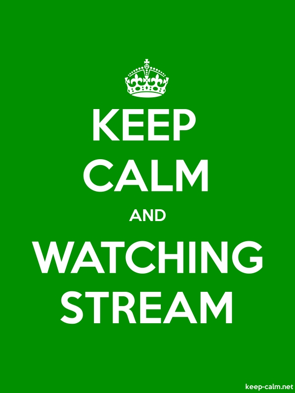 KEEP CALM AND WATCHING STREAM - white/green - Default (600x800)