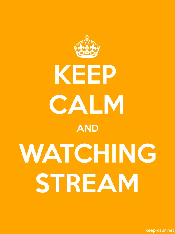 KEEP CALM AND WATCHING STREAM - white/orange - Default (600x800)