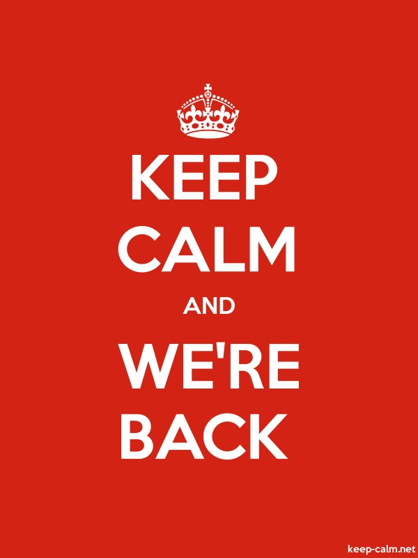 KEEP CALM AND WE'RE BACK - white/red - Default (600x800)