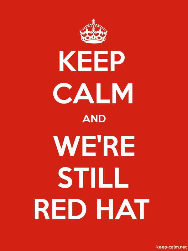 KEEP CALM AND WE'RE STILL RED HAT - white/red - Default (600x800)