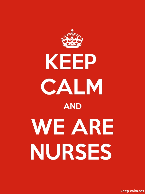 KEEP CALM AND WE ARE NURSES - white/red - Default (600x800)