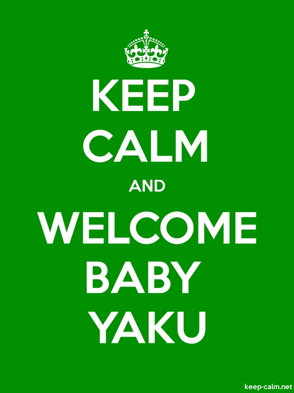 KEEP CALM AND WELCOME BABY YAKU - white/green - Default (600x800)