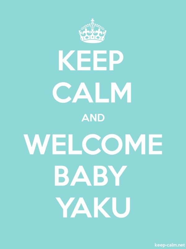 KEEP CALM AND WELCOME BABY YAKU - white/lightblue - Default (600x800)