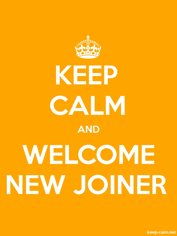 KEEP CALM AND WELCOME NEW JOINER - white/orange - Default (600x800)
