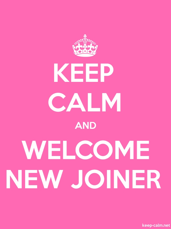 KEEP CALM AND WELCOME NEW JOINER - white/pink - Default (600x800)