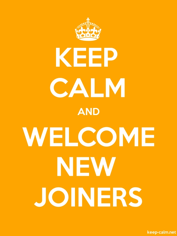 KEEP CALM AND WELCOME NEW JOINERS - white/orange - Default (600x800)