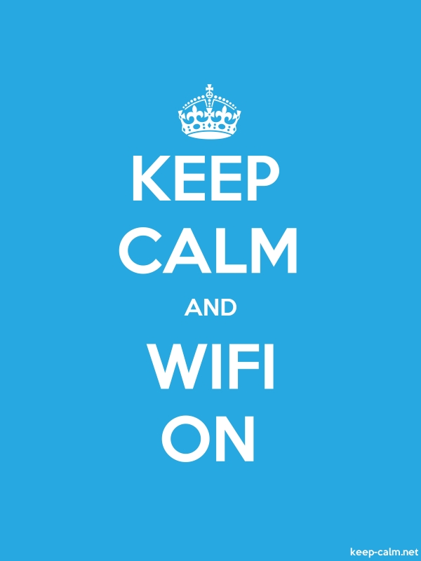 KEEP CALM AND WIFI ON - white/blue - Default (600x800)