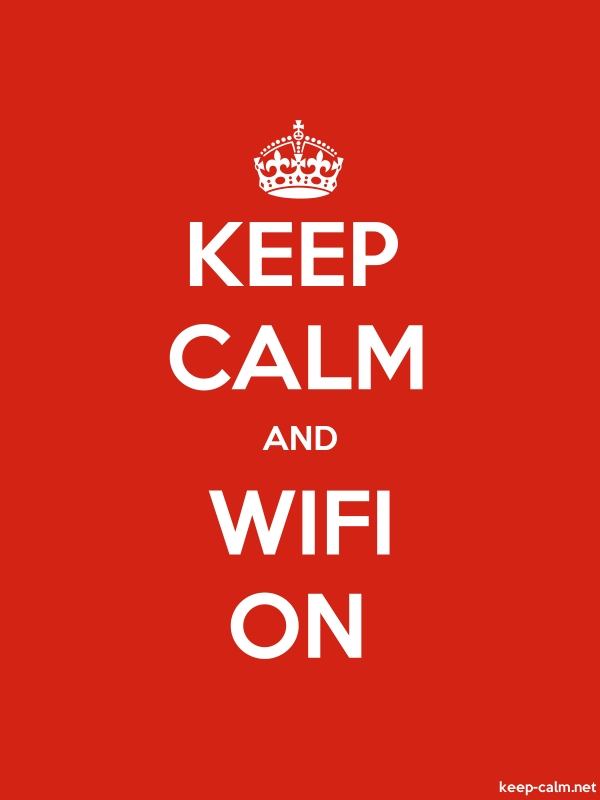 KEEP CALM AND WIFI ON - white/red - Default (600x800)