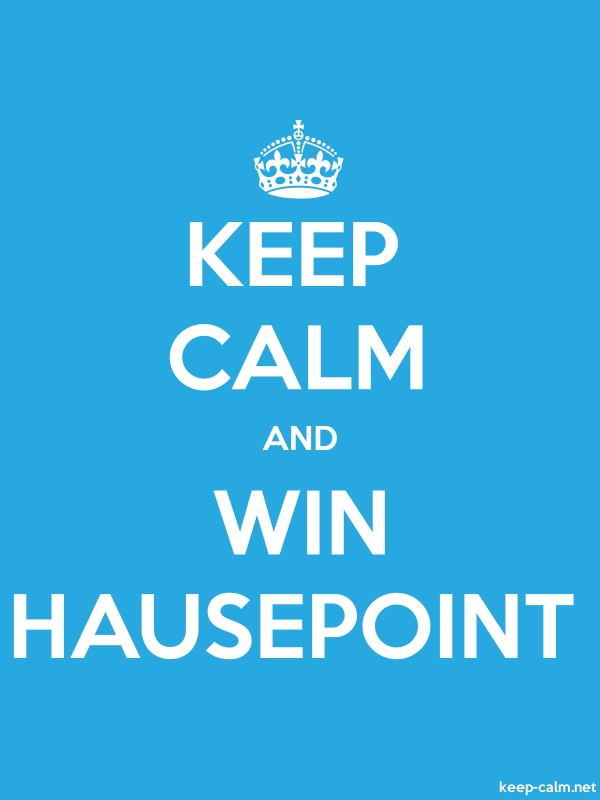 KEEP CALM AND WIN HAUSEPOINT - white/blue - Default (600x800)
