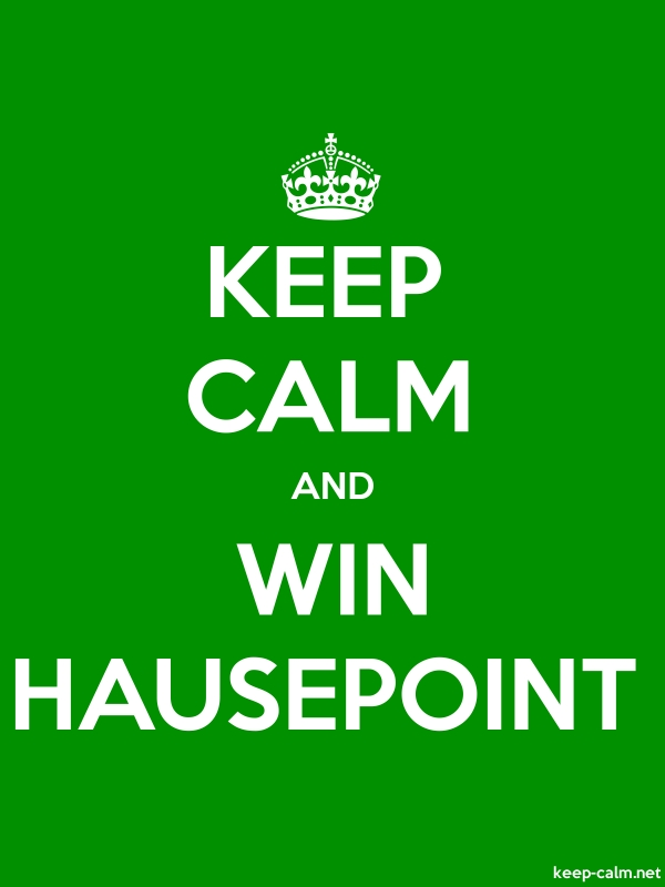 KEEP CALM AND WIN HAUSEPOINT - white/green - Default (600x800)