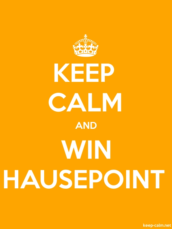 KEEP CALM AND WIN HAUSEPOINT - white/orange - Default (600x800)