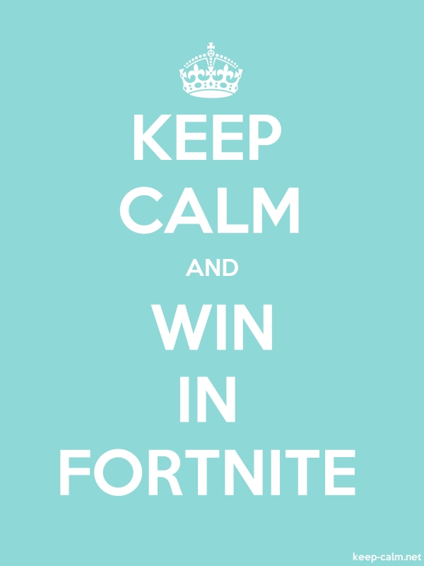 KEEP CALM AND WIN IN FORTNITE - white/lightblue - Default (600x800)