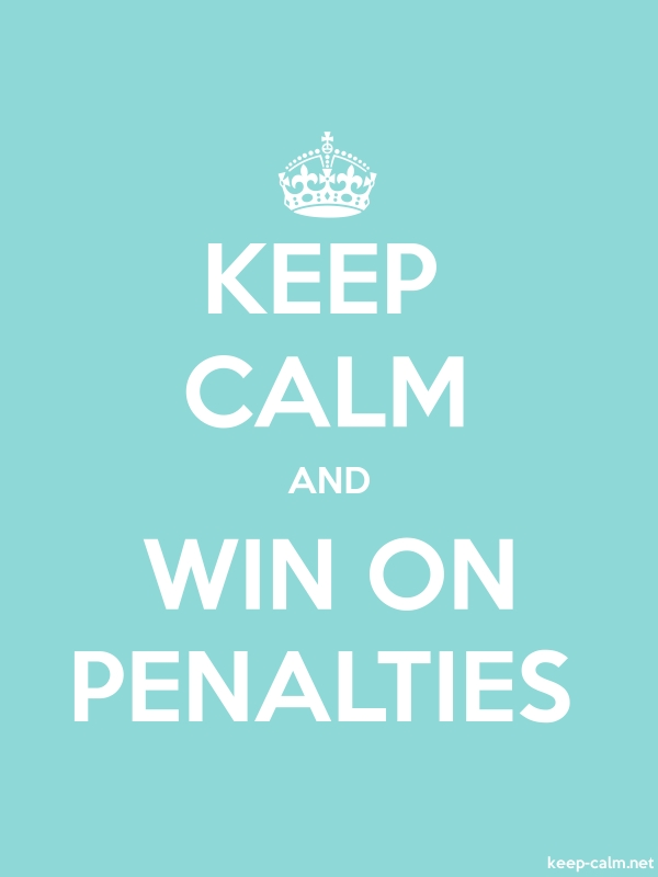 KEEP CALM AND WIN ON PENALTIES - white/lightblue - Default (600x800)