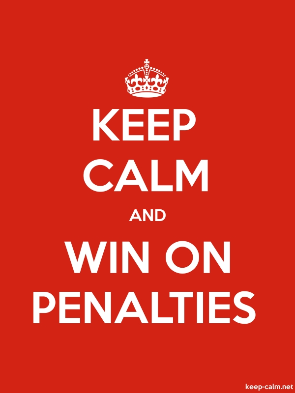 KEEP CALM AND WIN ON PENALTIES - white/red - Default (600x800)