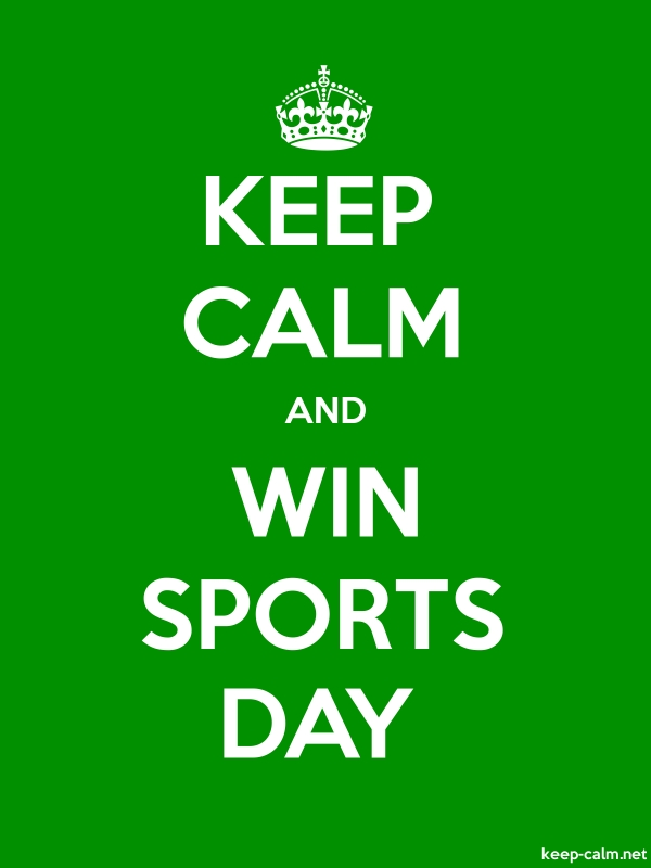 KEEP CALM AND WIN SPORTS DAY - white/green - Default (600x800)