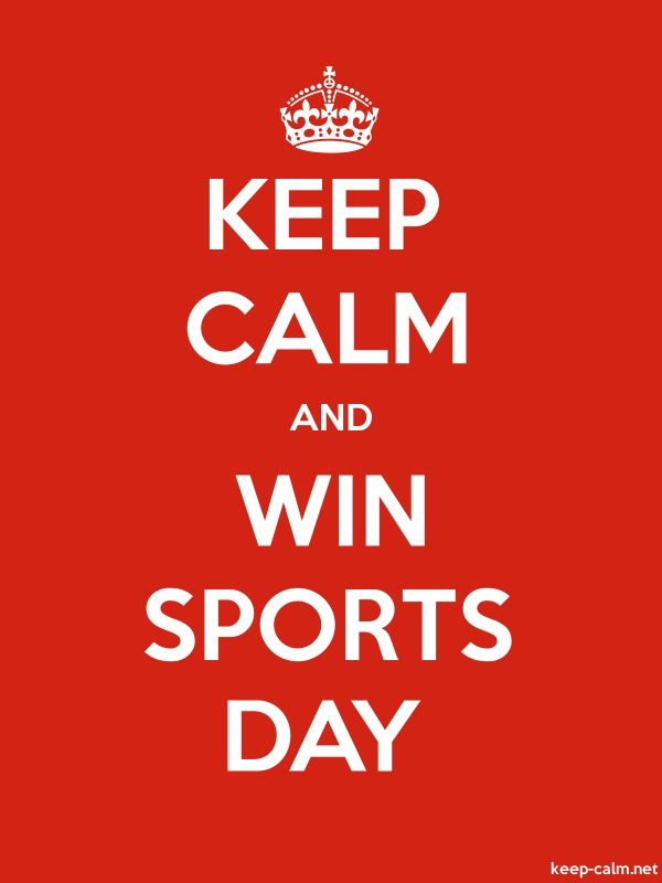 KEEP CALM AND WIN SPORTS DAY - white/red - Default (600x800)