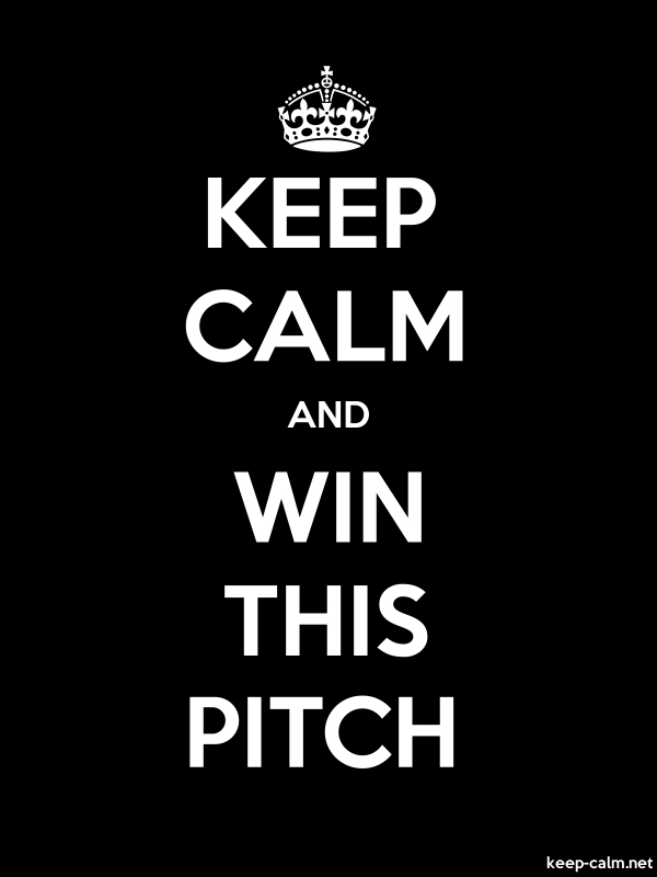 KEEP CALM AND WIN THIS PITCH - white/black - Default (600x800)