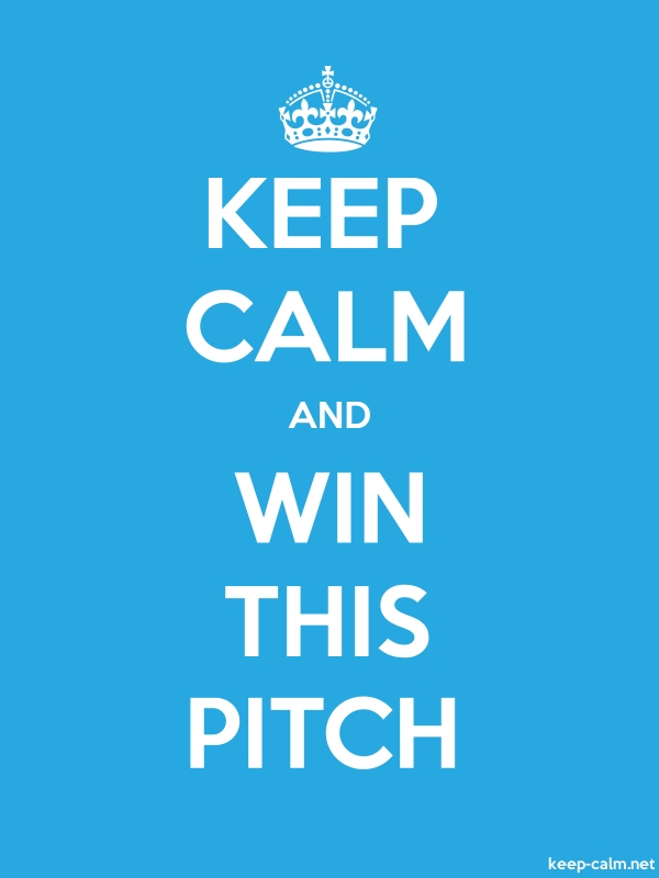 KEEP CALM AND WIN THIS PITCH - white/blue - Default (600x800)