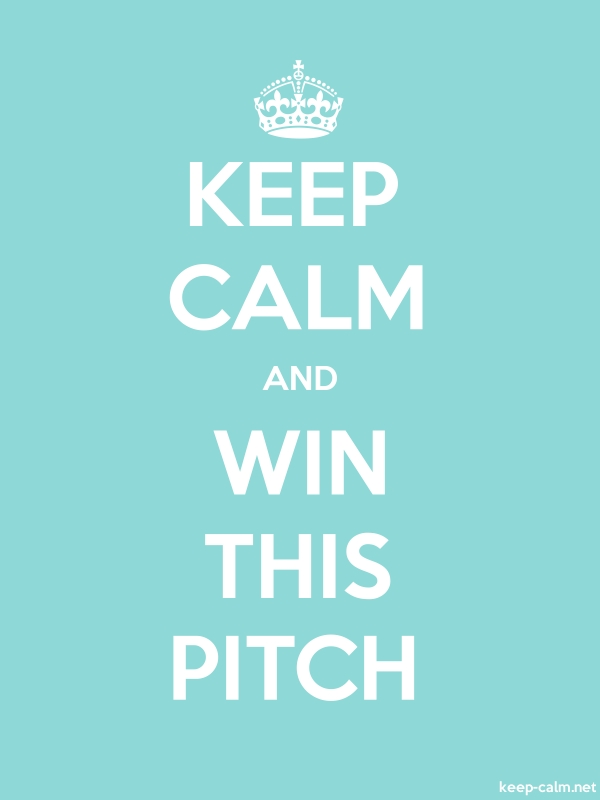 KEEP CALM AND WIN THIS PITCH - white/lightblue - Default (600x800)