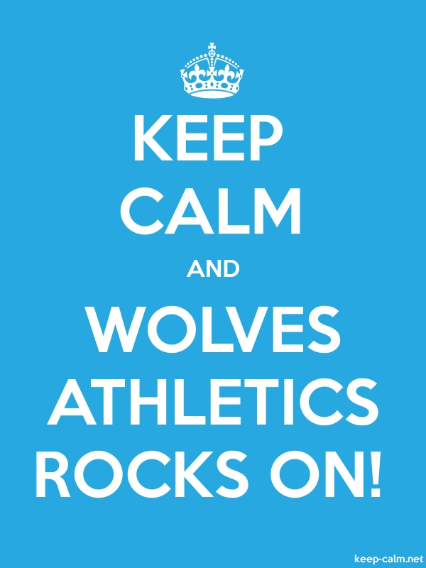 KEEP CALM AND WOLVES ATHLETICS ROCKS ON! - white/blue - Default (600x800)