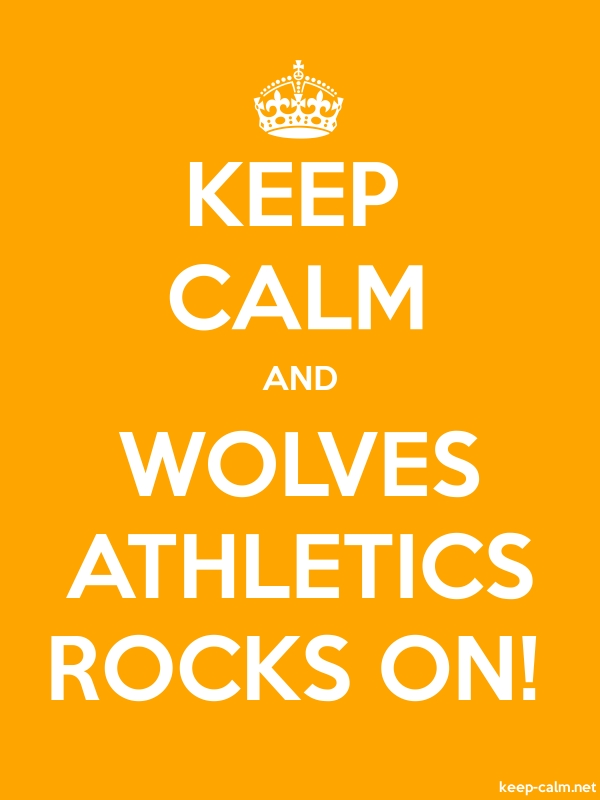 KEEP CALM AND WOLVES ATHLETICS ROCKS ON! - white/orange - Default (600x800)