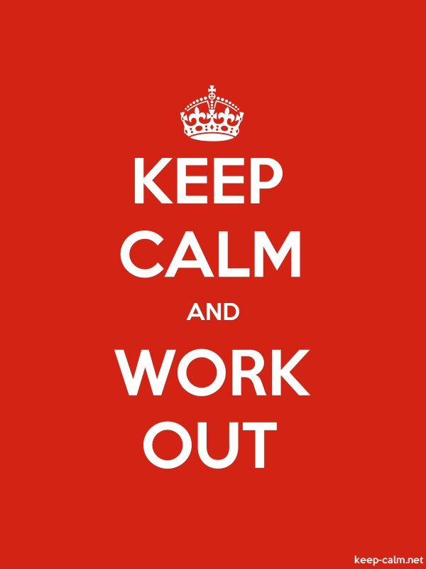 KEEP CALM AND WORK OUT - white/red - Default (600x800)