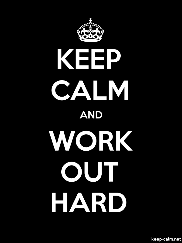 KEEP CALM AND WORK OUT HARD - white/black - Default (600x800)