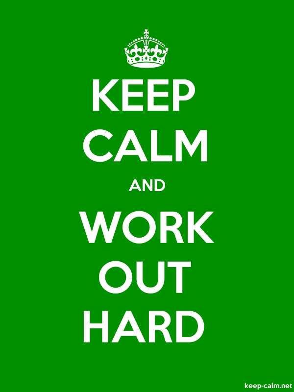 KEEP CALM AND WORK OUT HARD - white/green - Default (600x800)