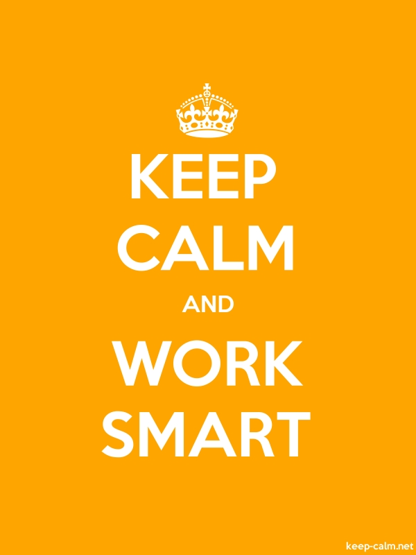 KEEP CALM AND WORK SMART - white/orange - Default (600x800)
