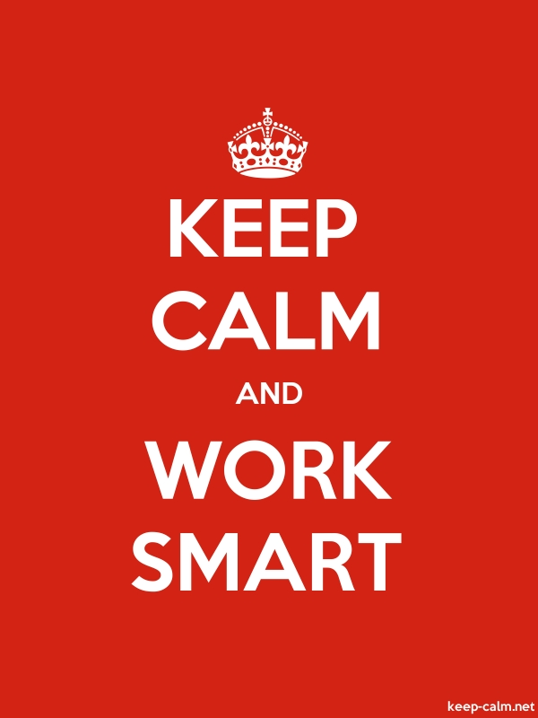 KEEP CALM AND WORK SMART - white/red - Default (600x800)
