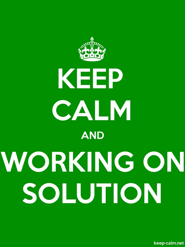 KEEP CALM AND WORKING ON SOLUTION - white/green - Default (600x800)