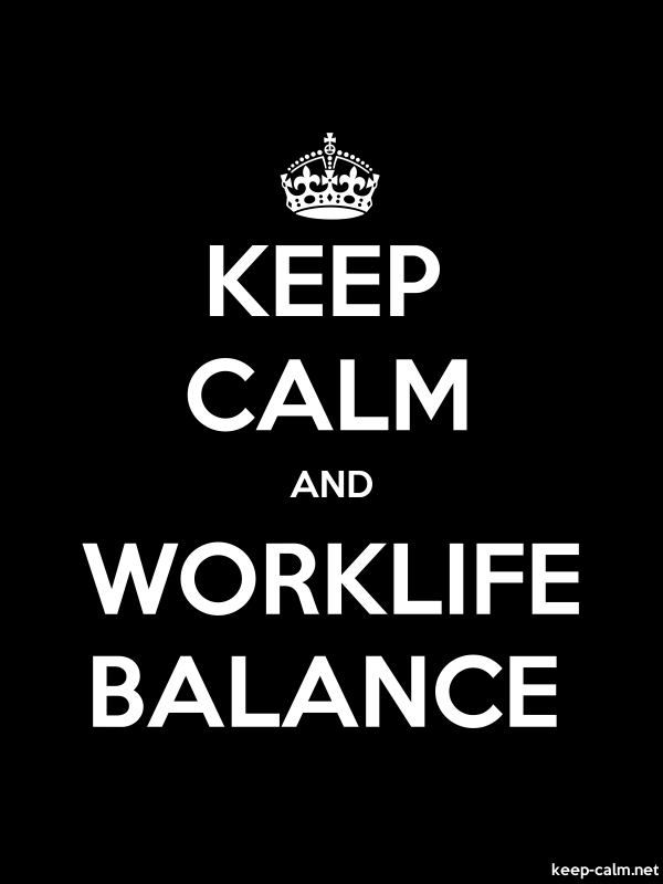 KEEP CALM AND WORKLIFE BALANCE - white/black - Default (600x800)