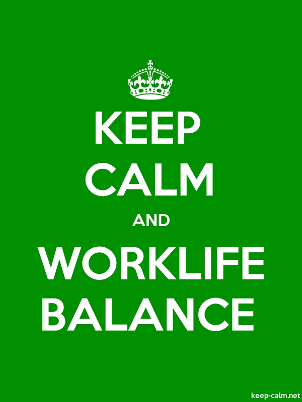 KEEP CALM AND WORKLIFE BALANCE - white/green - Default (600x800)