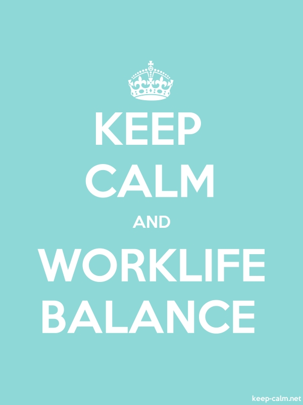 KEEP CALM AND WORKLIFE BALANCE - white/lightblue - Default (600x800)