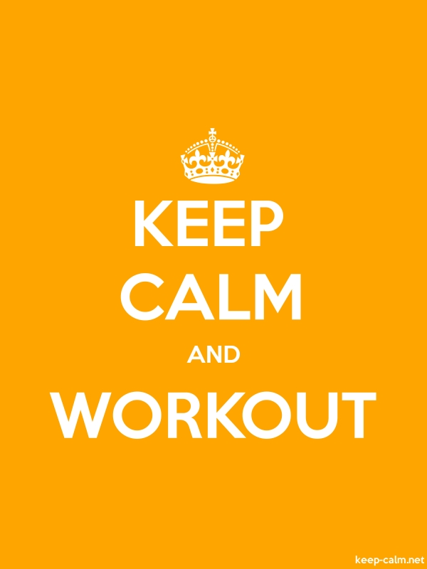 KEEP CALM AND WORKOUT - white/orange - Default (600x800)