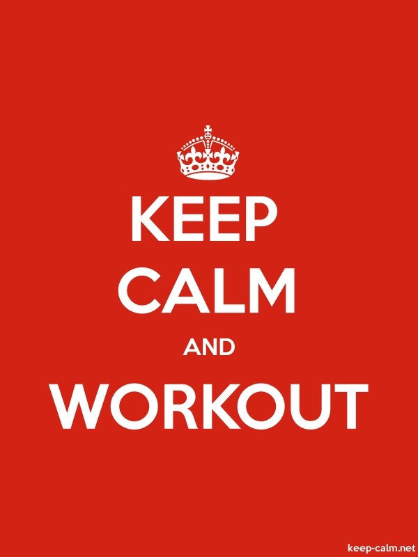 KEEP CALM AND WORKOUT - white/red - Default (600x800)