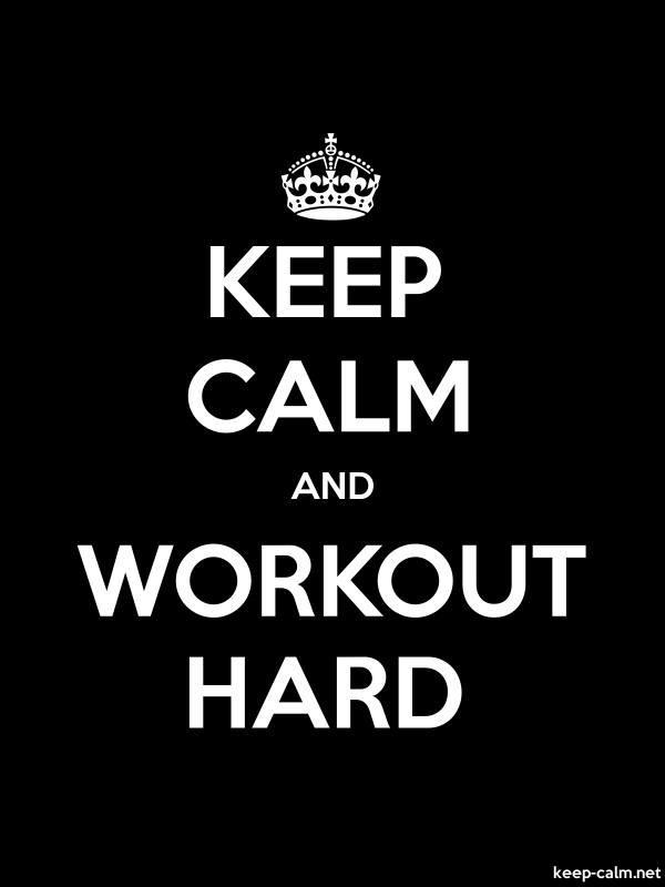 KEEP CALM AND WORKOUT HARD - white/black - Default (600x800)