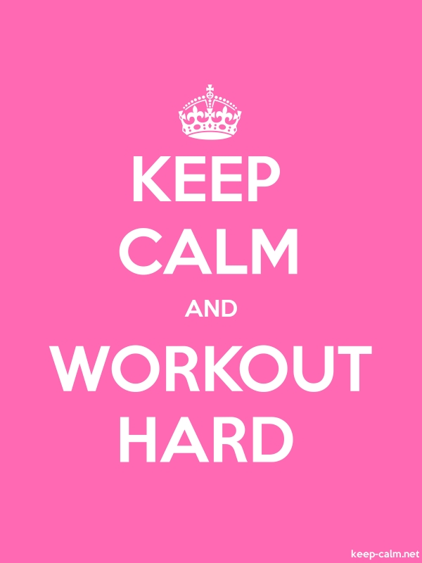 KEEP CALM AND WORKOUT HARD - white/pink - Default (600x800)