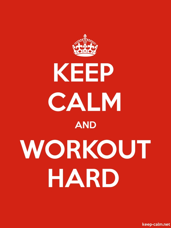 KEEP CALM AND WORKOUT HARD - white/red - Default (600x800)