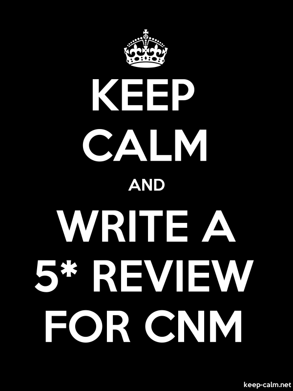 KEEP CALM AND WRITE A 5* REVIEW FOR CNM - white/black - Default (600x800)
