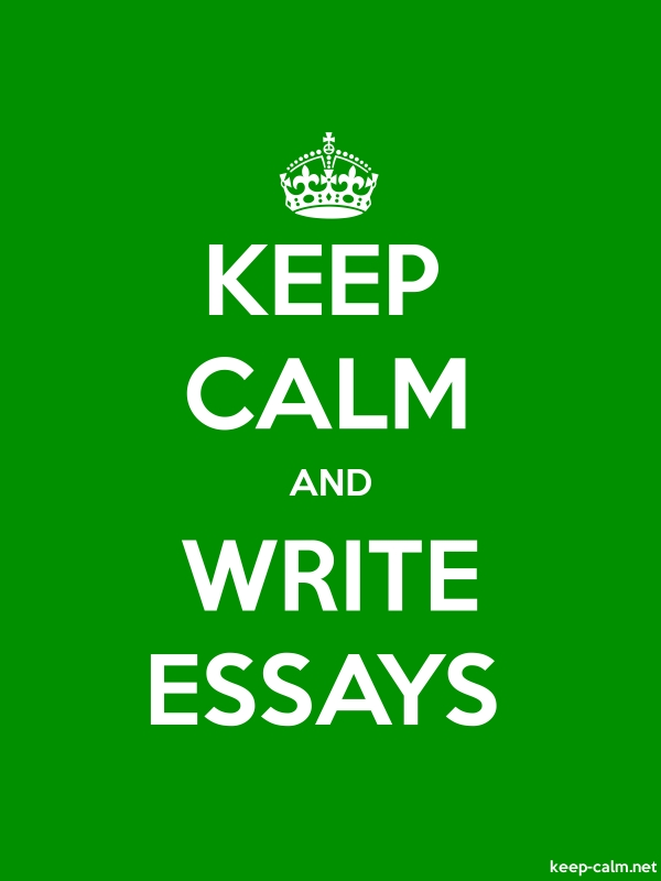 KEEP CALM AND WRITE ESSAYS - white/green - Default (600x800)
