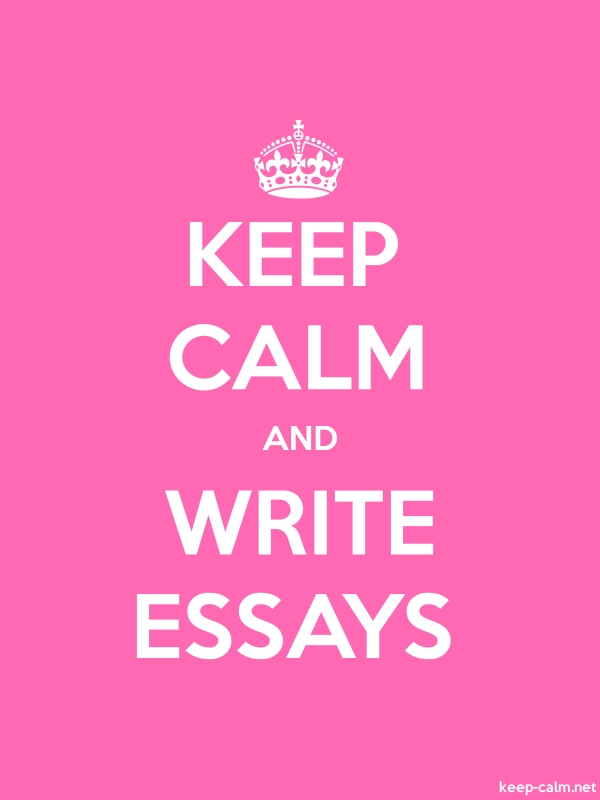 KEEP CALM AND WRITE ESSAYS - white/pink - Default (600x800)