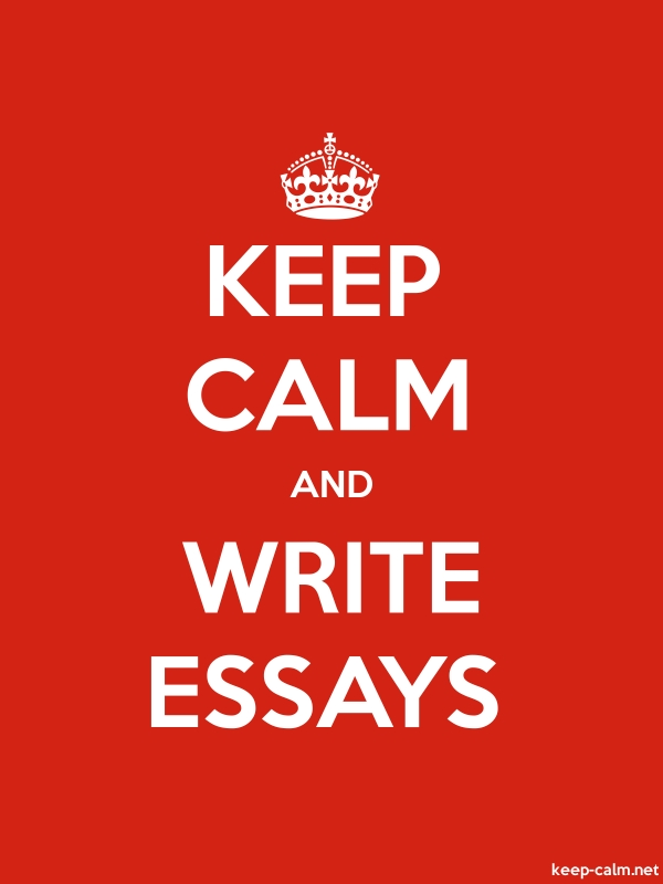 KEEP CALM AND WRITE ESSAYS - white/red - Default (600x800)